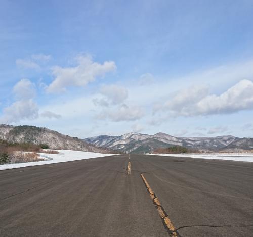 飛行試験に使った滑走路からの景色です。